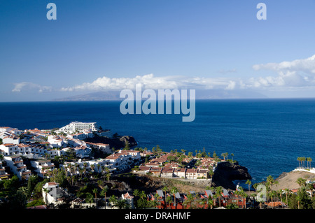 La Gomera Insel von Puerto De Santiago, Teneriffa, Kanarische Inseln, Spanien. - Stockfoto