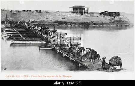 Ägypten - Brücke für Mekka-gebundenen Wohnwagen Züge - Stockfoto