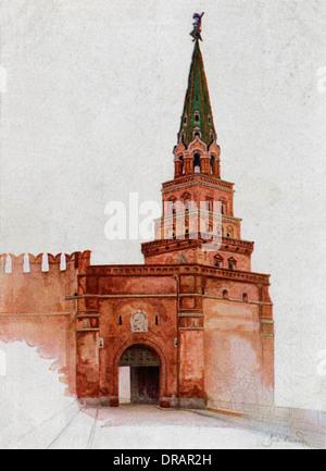 Borovitskaya Turm, Kreml, Moskau - Stockfoto