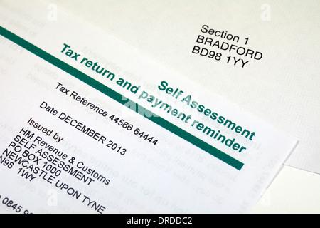 Self Assessment Steuererklärung Erinnerung Stockfoto Bild 47939486