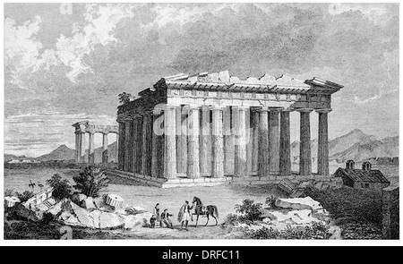 Der Tempel der Minerva Parthenon in Athen. NW-Ansicht um 1880