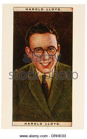 Harold LLoyd war ein US-amerikanischer Schauspieler und Produzent, berühmt für seine Stille Komödien 1893-1971. - Stockfoto