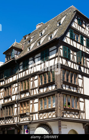Fachwerk Renaissance Haus 17. Jahrhundert Straßburg Elsass Frankreich - Stockfoto