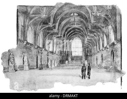 Innenraum der alten Westminster Hall barocken Gentleman Privatzimmer London größere Hauptstadt England English Großbritannien - Stockfoto