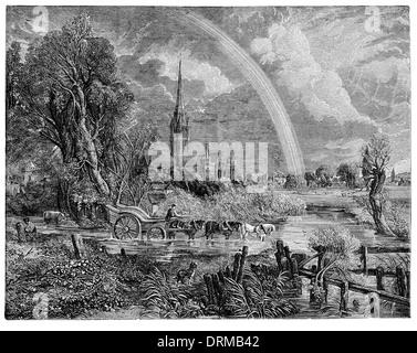 Kathedrale von Salisbury um 1830