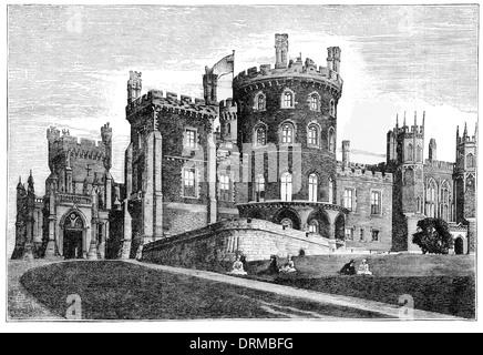 Belvoir Castle aus dem NW. zeigt den großen Auftritt um 1860 Stockfoto