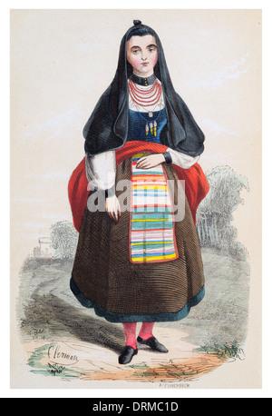 Frau von Salamanca eine Stadt im Nordwesten Spaniens, Hauptstadt der gleichnamigen Provinz in der Gemeinschaft Kastilien - Stockfoto