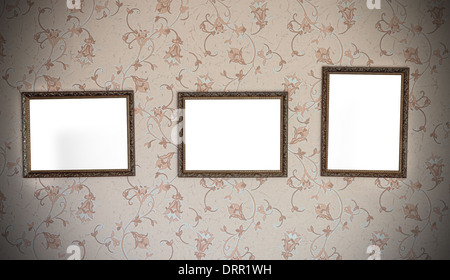 drei verzierten leeren bilderrahmen in verschiedenen gr en stockfoto bild 77993904 alamy. Black Bedroom Furniture Sets. Home Design Ideas