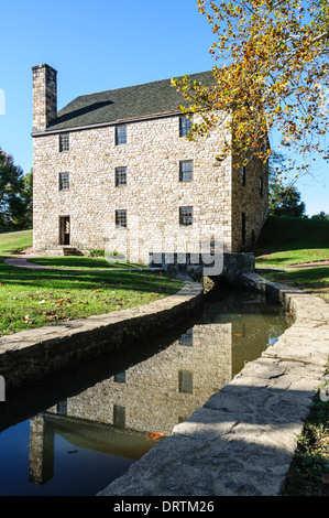 George Washington Getreidemühle, Mount Vernon, Fairfax County, Virginia - Stockfoto