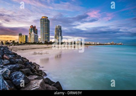 Miami, Florida am Südstrand.