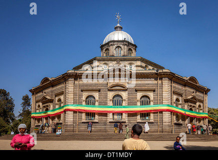 St George Kathedrale, Piazza Bezirk, Addis Ababa, Äthiopien - Stockfoto