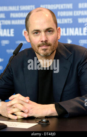 """Berlin, Deutschland. 7. Februar 2014. Edward Berger während der """"Jack""""-Pressekonferenz auf der 64. Internationalen - Stockfoto"""