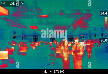 Infrarot-Wärme Bild von office - Stockfoto
