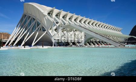Spanien, Valencia, La Ciudad de las Artes y las Ciencias, Stadt der Künste und Wissenschaften Principe Felipe Wissenschaftsmuseum - Stockfoto