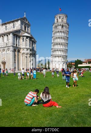 Pisa schiefe Turm, Toskana Italien - Stockfoto