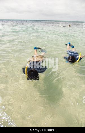 Menschen im Meer Schnorcheln - Stockfoto