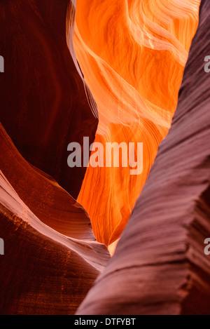 Lower Antelope Canyon in der Nähe von Page, Arizona, USA - Stockfoto