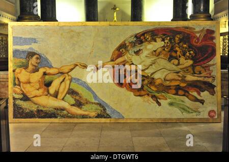 Michelangelos Erschaffung Adams Sixtinische Kapelle Rom