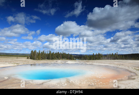 Heiße Quelle am gelben Stein Nationalpark - Stockfoto