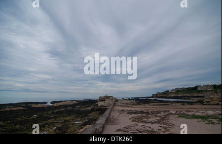 Castle Beach, St. Andrews, Fife, Schottland - Stockfoto
