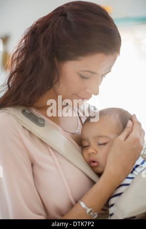 Mutter mit Babymädchen - Stockfoto