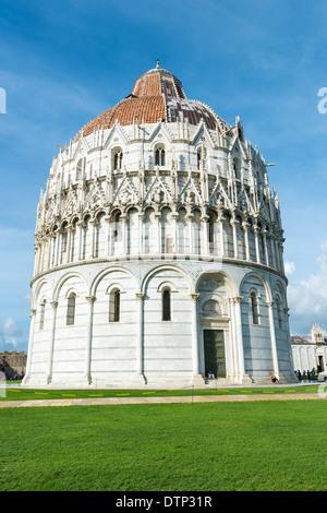 Baptisterium in Wunder Ort in Pisa, Italien - Stockfoto
