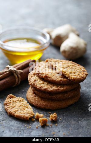 Ingwer und Honig cookies - Stockfoto
