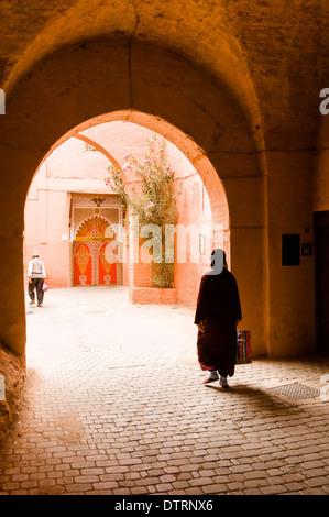 Innerhalb der Medina von Marrakesch, Marokko. - Stockfoto