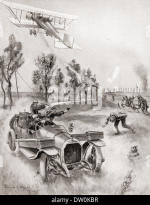 Französische Soldaten retten einen Mechaniker - Stockfoto