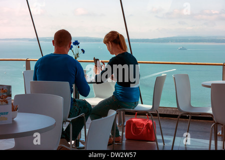 Cafe in der Wolken Spinnaker Tower-Portsmouth - Stockfoto