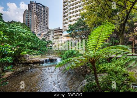 Taipei, Taiwan im Bezirk Beitou Hot Springs.