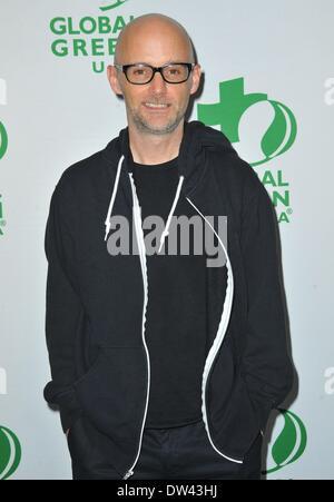 Los Angeles, CA, USA. 26. Februar 2014. Moby im Ankunftsbereich für Global Green USA 11. jährlichen Pre-Oscar-Party, - Stockfoto