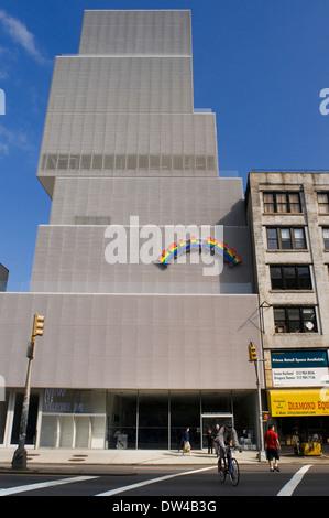 Fassade des neuen Museums für zeitgenössische Kunst in Manhattan in New York City USA. Neues Museum für zeitgenössische - Stockfoto