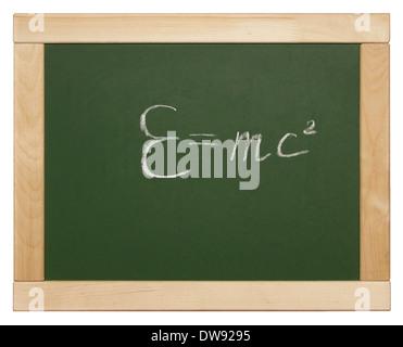 Relativitätstheorie auf Tafel geschrieben Stockfoto