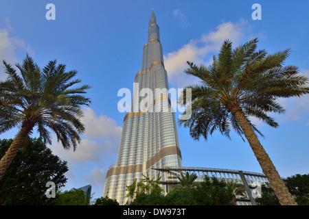 Burj Khalifa, 828 m, Innenstadt, Dubai, Vereinigte Arabische Emirate - Stockfoto