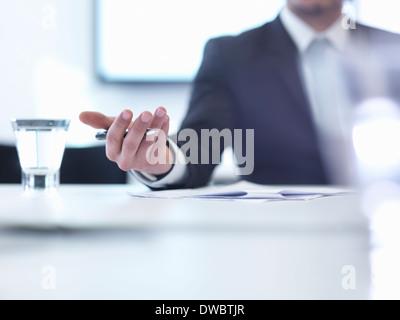 Unternehmer treffen, Nahaufnahme - Stockfoto