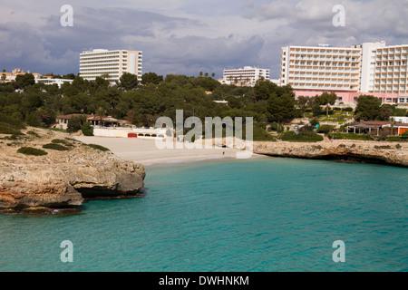 Mallorca Spanien Cala Murada Ost Küste Mallorca Mallorca Ostküste in der Nähe von Portocristo-Balearen-Spanien - Stockfoto