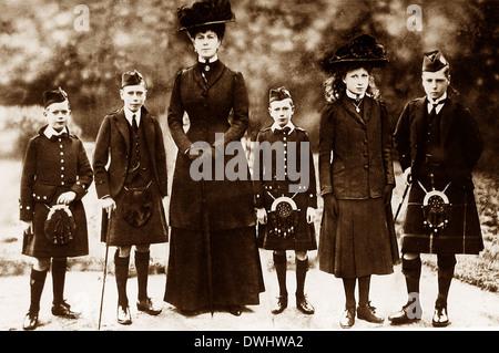 Queen Mary und Fürsten Albert Henry George und Prinzessin Mary - Stockfoto