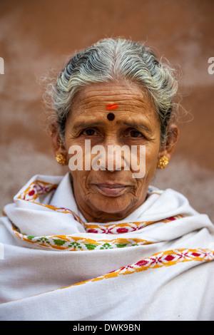 Agra, Indien. Frau aus indischen Bundesstaat Maharashtra. - Stockfoto