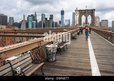 Brooklyn Brücke in New York City, USA - Stockfoto