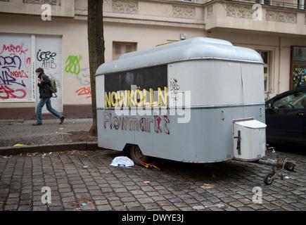 Berlin, Deutschland, alten Wohnwagen im Reuterkiez in Neukölln - Stockfoto