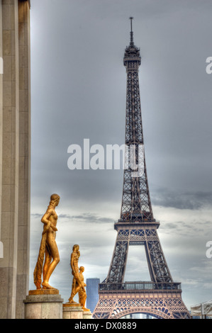 Der Eiffelturm in Paris. - Stockfoto