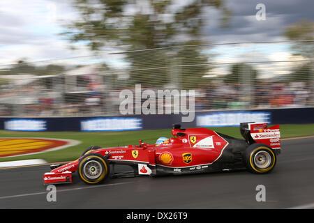 Melbourne, Australien. 16. März 2014. Fernando Alonso (ESP) #14 Scuderia Ferrari - Formel 1-Weltmeisterschaft 2014 - Stockfoto