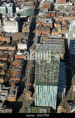 Luftaufnahme der Beetham Tower oder Hilton Tower, Deansgate, Manchester - Stockfoto