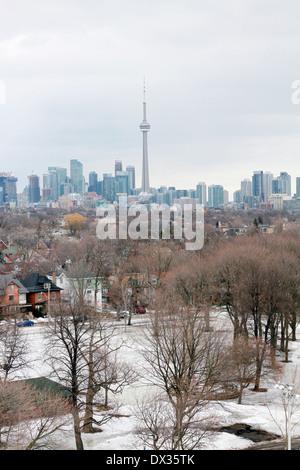 Downtown Toronto Blick aus einem der oberen Stockwerke - Stockfoto
