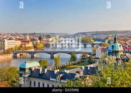 Prag bei Sonnenuntergang - Stockfoto
