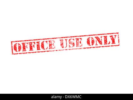 """""""OFFICE USE ONLY"""" roten Stempel auf einem weißen Hintergrund. - Stockfoto"""