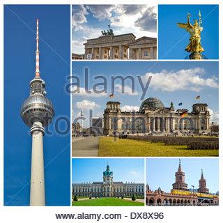 Berlin, Deutschland - Reise-Bilder mit Sehenswürdigkeiten - Stockfoto