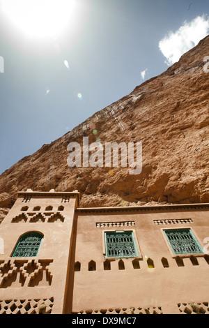 Afrika, Marokko, Todra Schlucht, die große Schlucht im östlichen Teil des hohen Atlas-Gebirge - Stockfoto
