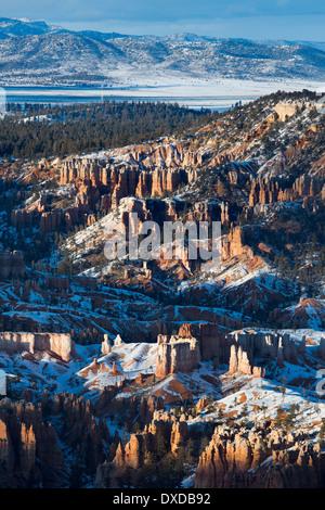 letztes Licht auf die Hoodoos der Bryce Canyon, Utah, USA - Stockfoto